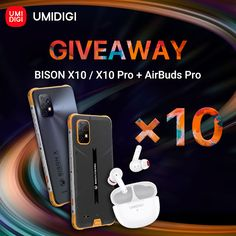Sorteio de Dez Smartphones UMIDIGI BISON X10 Series AirBuds Pro
