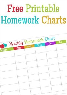 Free Printable Homew
