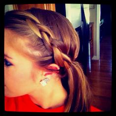 On top French braid.