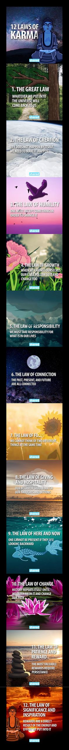 Money and Law of Attraction - The 12 Laws of Karma The Astonishing life-Changing Secrets of the Richest, most Successful and Happiest People in the World Karma Quotes, Life Quotes, Drake Quotes, Wisdom Quotes, Quotes Quotes, 12 Laws Of Karma, Developement Personnel, Paz Mental, Motivational Quotes