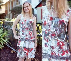 Retro dress by Amy made with Mood's silk charmeuse. #moodfabrics