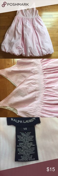 Ralph Lauren Girls Size 14 Pink Bubble Dress Beautiful Girls Size 14 Ralph Lauren Bubble Dress. Excellent Condition- Pink & White Stripe Ralph Lauren Dresses