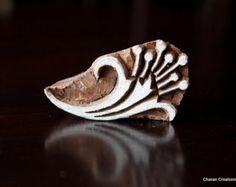 Cerámica sellos sello de madera India estampado textil