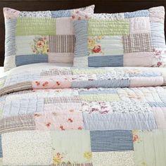 easy quilt...lattic patchwork quilt set...amity home