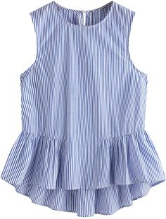 SheIn offers Buttoned Keyhole Tiered Hem Gingham Shell Top & more to fit your fashionable needs. Girl Outfits, Casual Outfits, Cute Outfits, Blouse Styles, Blouse Designs, Baby Dress Design, Mode Chic, Peplum Blouse, Little Girl Dresses