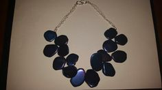 Coated Agate double choker necklace with silver coated chain and s-clasp.