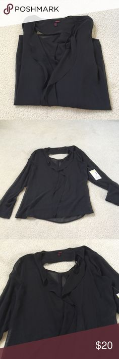 🆕 BONGo Long Sleeve Black Sheer Top Brand new with tags! BONGO Tops