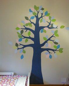Emma&Tommy room #homedecor #wallpaper #inke #tree #kids
