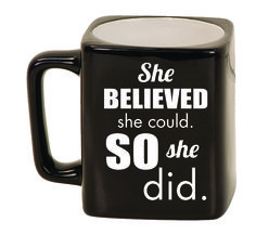 Ceramic Mugs - Square 8oz - She Belived she could. So she did.
