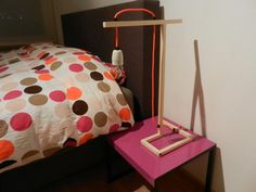 Nice bedlamp with orange wire.