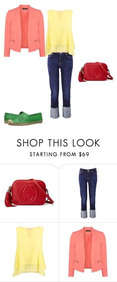 """""""тетрада классическая"""" by meaygul on Polyvore featuring мода, Gucci, 7 For All Mankind, Tory Burch и Dorothy Perkins"""