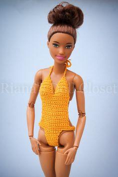 Barbie PINK ORANGE /& YELLOW One Piece Swim Suit