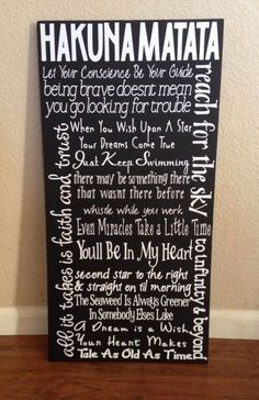 Disney Quote Sign by HandleWithLuv on Etsy, $30.00der if it comes in Purple? by patrice