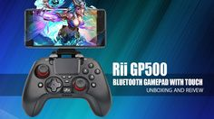 Rii GP500 Bluetooth GamePad with Touch - Unboxing and Full Review Ps4, Bluetooth, Goodies, Android, Touch, Sweet Like Candy, Ps3, Treats, Good Stocking Stuffers