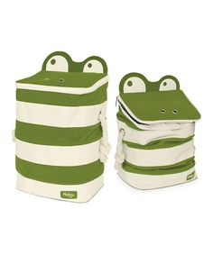 Take a look at this Green Monster Storage Bin by All Tucked Away: Kids' Organization on @zulily today!