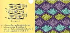 """#Crochet_Stitch - """"This beautiful mullticolored crochet stitch with chart has so many uses. I love the soft flowing nature of the stitch and can see it in many other color combinations!"""" Enjoy from #KnittingGuru"""