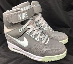 30e786535ccd Details about NIKE AIR REVOLUTION SKY HIGH SHOES WEDGE CANYON GREY TEAL  599410-006 Size 6.5