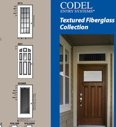 Codel woodlook textured fiberglass door with blinds inside & Codel Entry Systems - Fiberglass doors for harsh environments ...