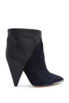 Navy Keira Suede And Leather Boot by IRO