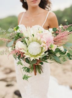 Protea perfection: http://www.stylemepretty.com/2015/08/08/25-bouquets-that-will-convince-you-to-blow-your-budget-on-florals/