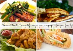 5 easy no-meat treats you can whip up for your family! Vegaterian Recipes, Healthy Recipes, Tofu Dishes, Tasty, Yummy Food, Healthy Treats, Healthy Cooking, Easy Meals, Meat