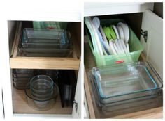 A guide to organizing kitchen cupboards.
