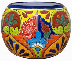 Shop our beautiful garden pieces imported from our Mexican factory. Talavera pottery adds color to your home and garden. Painted Flower Pots, Painted Pots, Hand Painted, Mexican Garden, Blue Dinnerware Sets, Talavera Pottery, Pop Art, Clay Pot Crafts, Pottery Painting