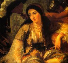 "Harem-""A concubine in the Harem"" by Jean-Baptiste Hilair"