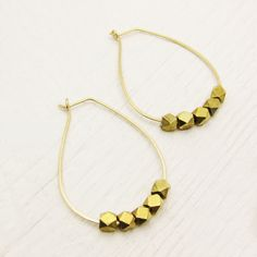 Teardrop Gold Hoop Earrings