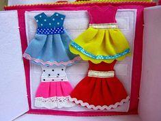 Developmental book of felt doll Dollhouse Chrysalis House for