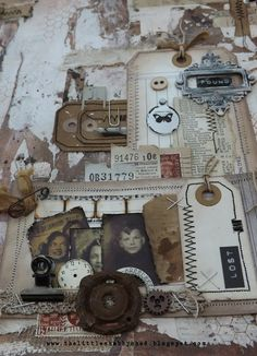 """Lost and Found"""" Tag, Photo, and Rusty Metal Collage"""