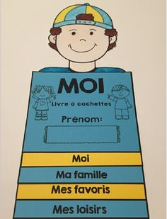 French All About Me Flip Book - Back to School - Me Voici! - Livre à cachettes French Teaching Resources, Primary Teaching, Teaching French, Back To School Activities, Writing Activities, French Kids, French Education, Core French, French Classroom