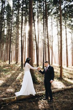 Wedding in the woods. Lisle Illinois.
