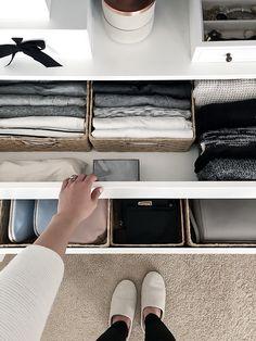 Wardrobe Drawer Organization. small space storage tips #smallspaces