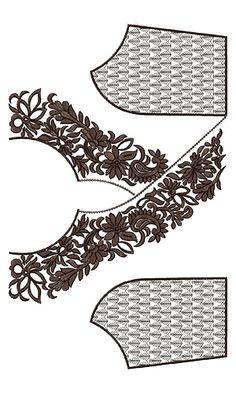 10019 Neck Embroidery Design