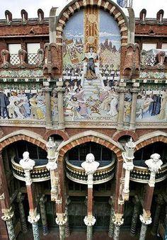 Palau de la Musica Catalana Barcelona, Spain | Panoramio - Photo of BARCELONA. Palau de la Música Catalana. Tram ...