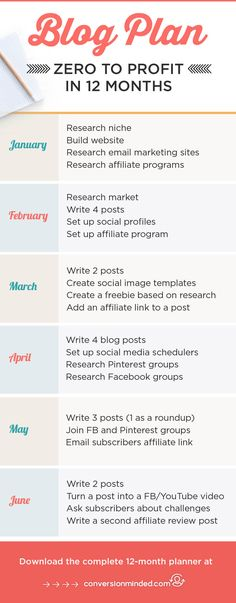 Step-by-Step Monthly Blog Planner | If you want to start and grow your blog, but you're a little stumped on how to actually turn it into a full-time business, then this post is for you! It includes a sample 12-month plan for bloggers and entrepreneurs based on which stage of business you're in, so you know what you should be focusing on right now. Free printable blog planner template included. Click through to see the plan!