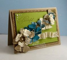 Stampin' Up!  Punch Art  Carrie Gaskin  Paper Flowers