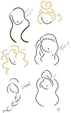 hair sketches #brookecostello