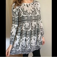 NWT black and white relished pollack kattzzy dress NWT relished pollack  black and gray katzzy dress. 100% polyester and fits true to size! The model is wear a small! Sizes available: small, medium, large Relished Dresses Long Sleeve