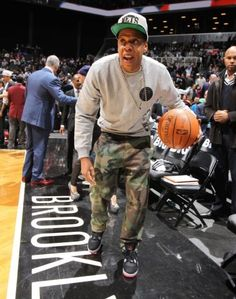 Jay Z on his Birthday at Barclays Center 466768a75236