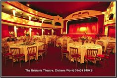 This theatre is named after Charles Dickens favourite Theatre the Britannia in Hoxton in London. Charles Dickens spent time in Kent as his father was a clerk at the naval dock yard in Chatam. Wedding Reception, Our Wedding, Wedding Venues, Chatham Kent, Centre Pieces, Photo S, Trip Advisor, Theatre, Entertaining
