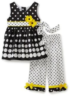 Rare Editions Girls 2-6X Gradient Dot Capri Shirt Set $27.95