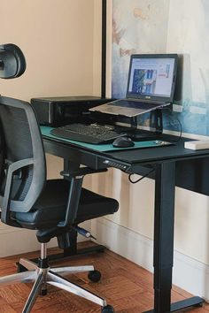 looking to create a small office space that you can work from home in and be productive? try an adjustable electric stand desk where you can sit stand and incorporate movement into a long work day. best standing desk, sit stand desk, bdi office furniture, work from home office essentials, standing desk for small space, best standing desk for apartment Desks For Small Spaces, Small Space Office, Best Standing Desk, Amazon Home Decor, Sit Stand Desk, Shopping Places, Office Essentials, Office Furniture, Home Office