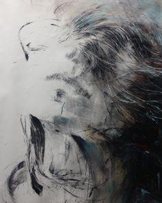 ewa hauton 140x110cm #face #woman #portret #hairs #oilpainting #canvas