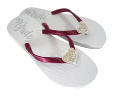 ca1bc45d845de Incorporate your wedding colors with our custom flip flops. Perfect for the  bride