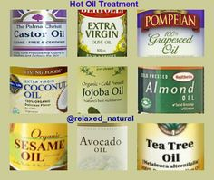 Great oils for hot oil treatments