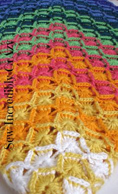 Sew Incredibly Crazy: A Flurry of Activity - Crochet and Quilting - I've gotta learn the Bavarian crochet stitch!