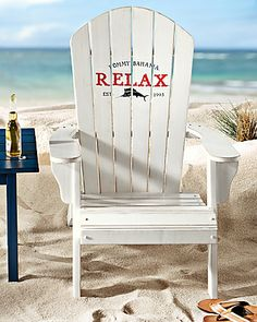 Tommy Bahama Deluxe White Adirondack Chair Beach Chairs