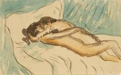 """Pablo Picasso's 'Etriente', a rare early painting of the artist with his lover.  Delicate, simple image which captures perfectly the tender exhaustion of lovers. """"Afterplay"""" just as important as """"foreplay""""  I love that time when holding each other in a purely loving connection after the passion of sexual lovemaking."""
